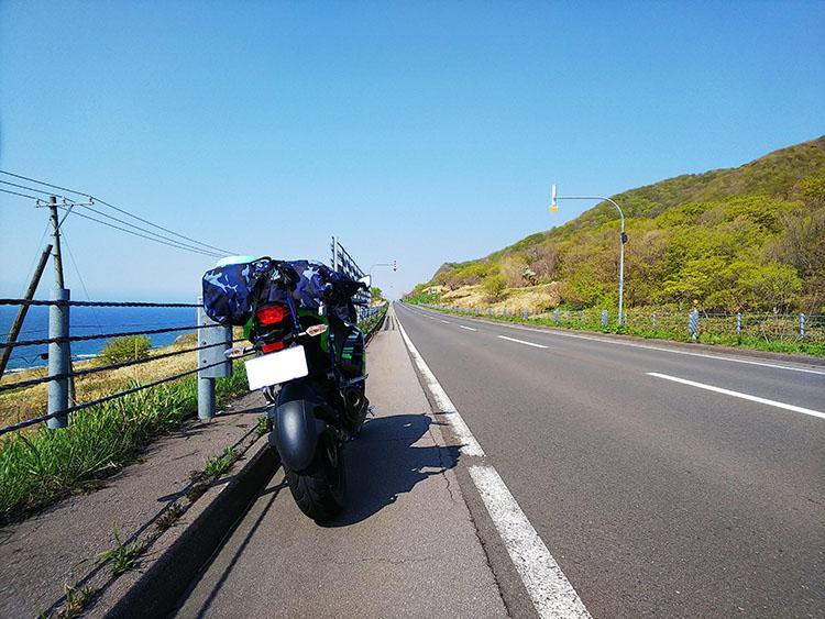 北海道直線道路 ninja250