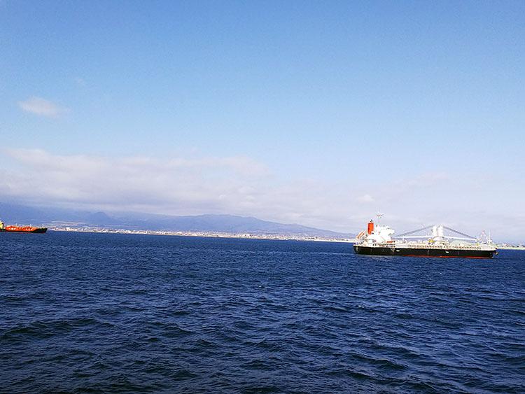 北海道が見えてきた
