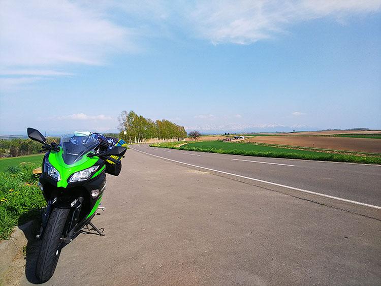 パッチワークの路とninja250