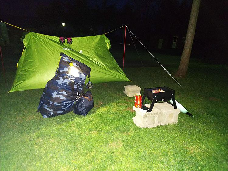 キャンプ道具 設営