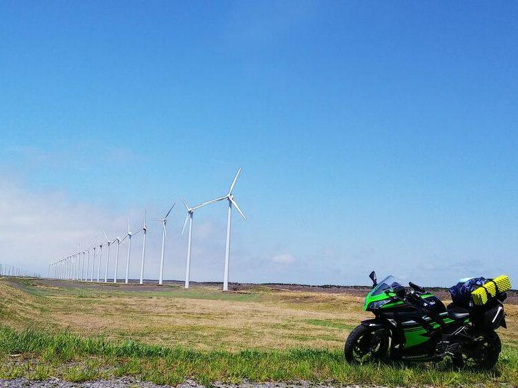 オロロンライン 北海道 風車 ninja250